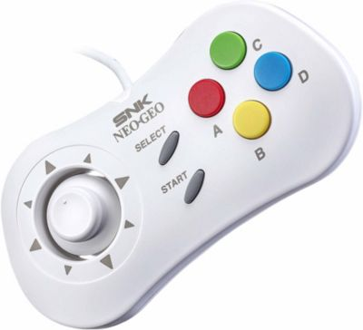 Manette Just for games manette snk neo geo mini blanche