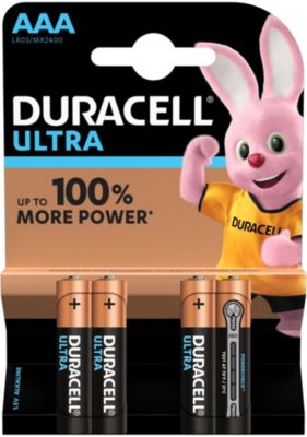 Pile non rechargeable Duracell AAA x4 Ultra Power LR03