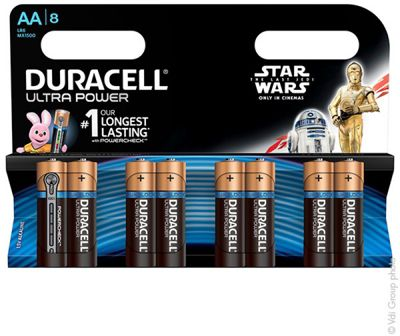 Pile non rechargeable Duracell AAx8 Ultra LR06 Star Wars