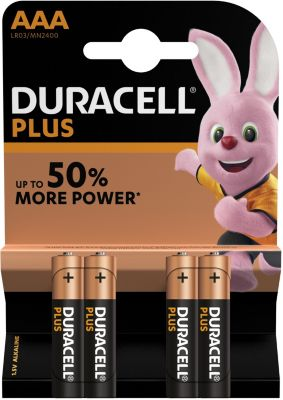 Pile non rechargeable Duracell AAA x4 Plus Power LR03