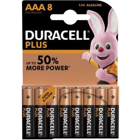 Pile DURACELL AAA x8 Plus Power LR03
