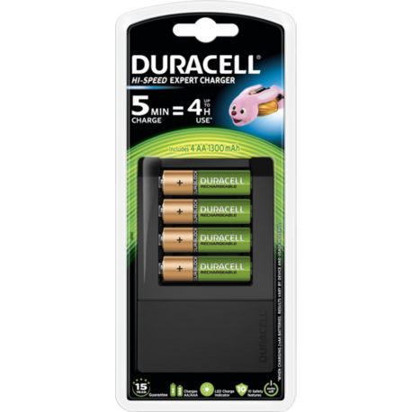 Piles rechargeables DURACELL AA X4 + Chargeur