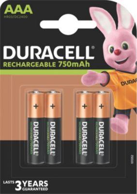 Accumulateur Duracell plus power 4 x aaa 750mah