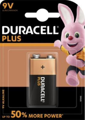 Pile non rechargeable Duracell 9 Volts x1 Plus Power