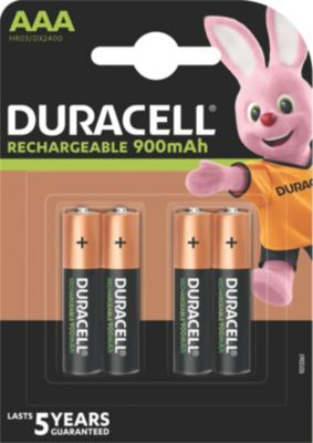 Accumulateur Duracell ultra power 4 x aaa 850mah