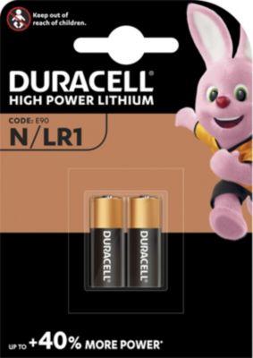 Pile Duracell Alcaline N/LR1, pack de 2 unités