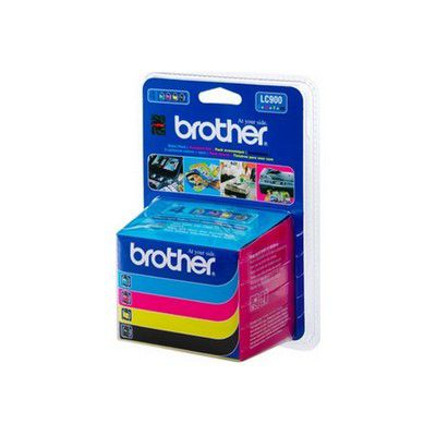 Cartouche d'encre Brother LC900 Value pack 1noir+3 cart coul