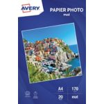 Papier AVERY 20 Photos mates A4 170g/m²