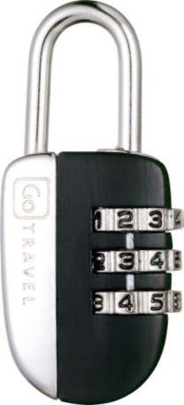 Accessoire GO TRAVEL Cadenas 3 combinaisons (noir)