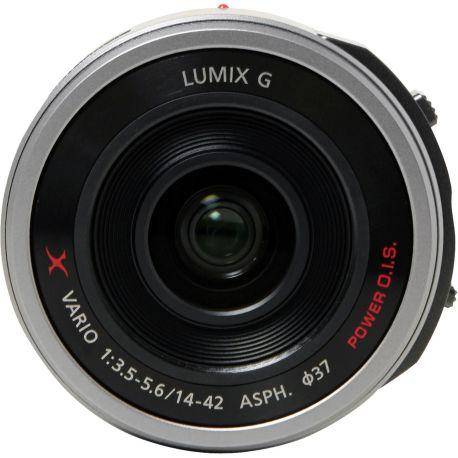 Objectif PANASONIC 14-42mm F3.5-5.6 PZ Silver Lumix G
