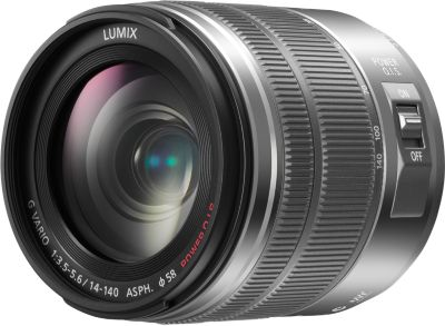 Objectif pour Hybride Panasonic 14-140mm f/3.5-5.6 OIS silver G Vario