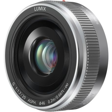 Objectif PANASONIC 20mm f/1.7 II silver Lumix G