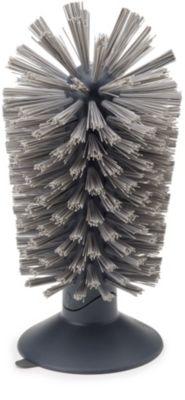 Brosse à verre Joseph Joseph avec ventouse Brush-up Gris