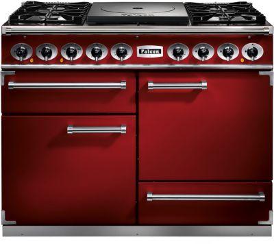 Piano de cuisson mixte falcon pkr110 mixt fct rouge cerise nickel