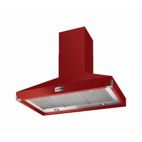 Hotte décorative FALCON PKR110 SUP EXT ROUGE NICKEL