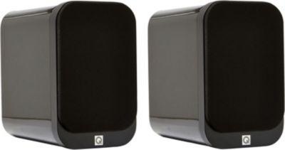 Enceinte bibliothèque Q Acoustics Q3010 LAQUEE NOIRE X2