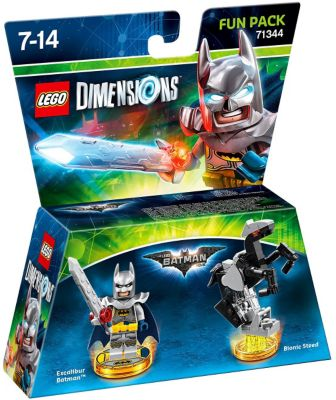 Pack Figurines Lego dimensions Warner Pack Hero Excalibur Batman