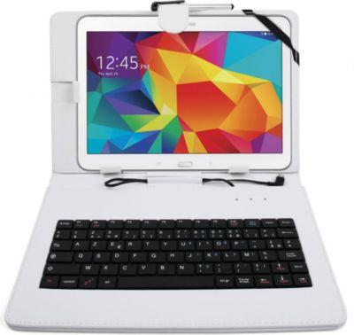 Duragadget etui blanc clavier azerty tablette 10 1 for Boulanger etui tablette