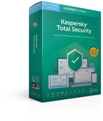 Logiciel Antivirus et optimisation kaspersky total security 2019 (5 postes / 1 an)