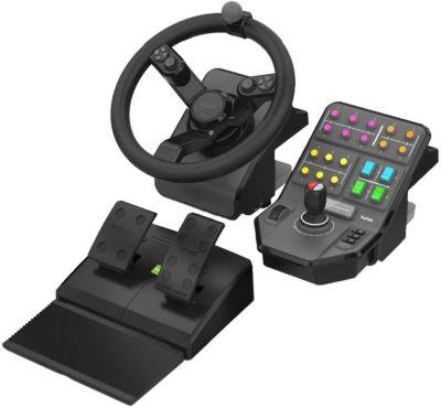 Volant + levier de vitesses + pédalier logitech tractor farming simulator controller