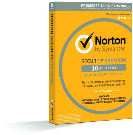 Logiciel PC  SYMANTEC Norton Security 2016 10 postes