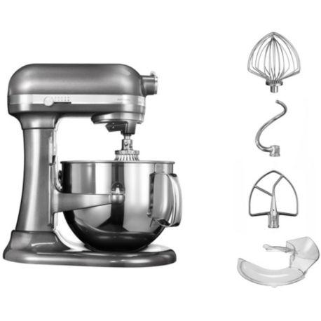 robot kitchenaid 5ksm7580xems artisan gris etain. Black Bedroom Furniture Sets. Home Design Ideas