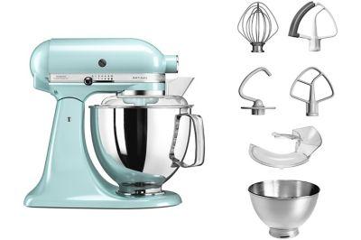 kitchenaid 5ksm175pseic artisan bleu glacier robot p tissier boulanger. Black Bedroom Furniture Sets. Home Design Ideas