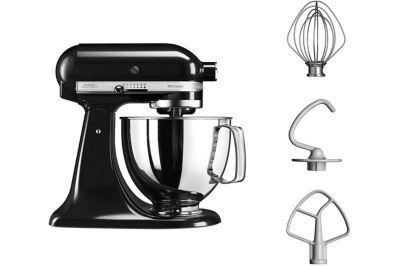 Robot pâtissier Kitchenaid 5KSM125EOB Noir Onyx + Presse-agrumes Kitchenaid 5JE PRESSE AGRUMES