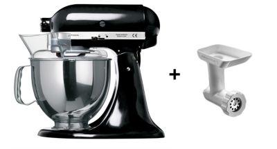 kitchenaid 5ksm150pseob noir hachoir 5fga robot p tissier boulanger. Black Bedroom Furniture Sets. Home Design Ideas