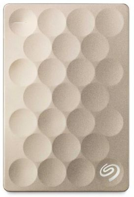 Disque dur externe Seagate 2.5'' 1To Ultra Slim / Gold / USB3.0