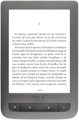 Liseuse eBook TEA Touch Lux 3 grise