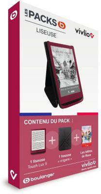 Liseuse eBook Vivlio Pack 3 en 1 Lettres de Rose -Touch Lux 5