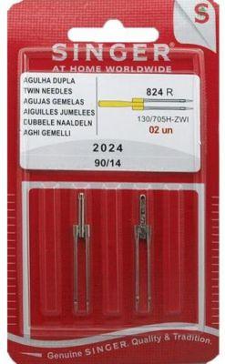 Accessoire Couture singer blister 2 aiguilles jumelles 4mm- 2024