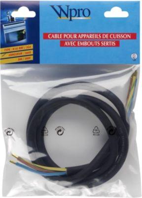 Câble Wpro h05 rrf 3g4 sans prise < 5750 watts