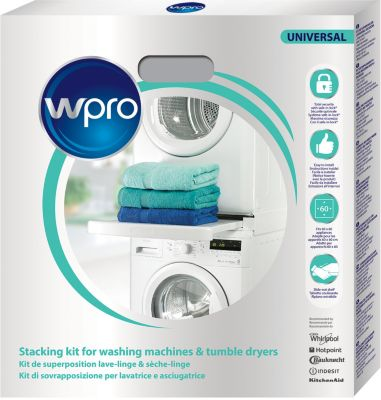 Kit de superposition Wpro Kit WPRO SKS101 universel lave-linge/sèc