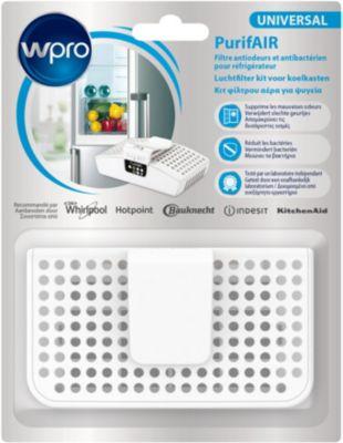 Absorbeur d'odeur Wpro PUR100 filtre anti odeur/antibactérien + Nettoyant Wpro Spray Nettoyant réf FRI101
