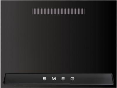 Crédence Smeg credence 90 cm noire kit1tr9n + hotte grande largeur smeg kt90ble noire pr bu93 + piano de cuisson gaz smeg tr90bl9