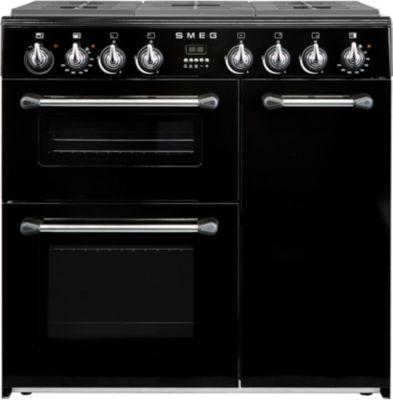 Piano de cuisson mixte Smeg BU93BL Noire