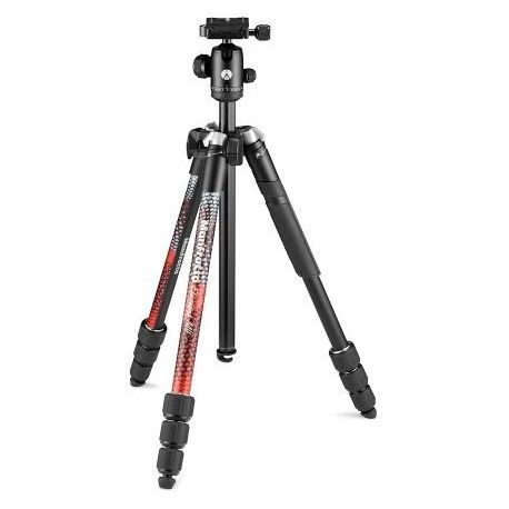 Trépied MANFROTTO Element MII Aluminium Red 4 Sections BH