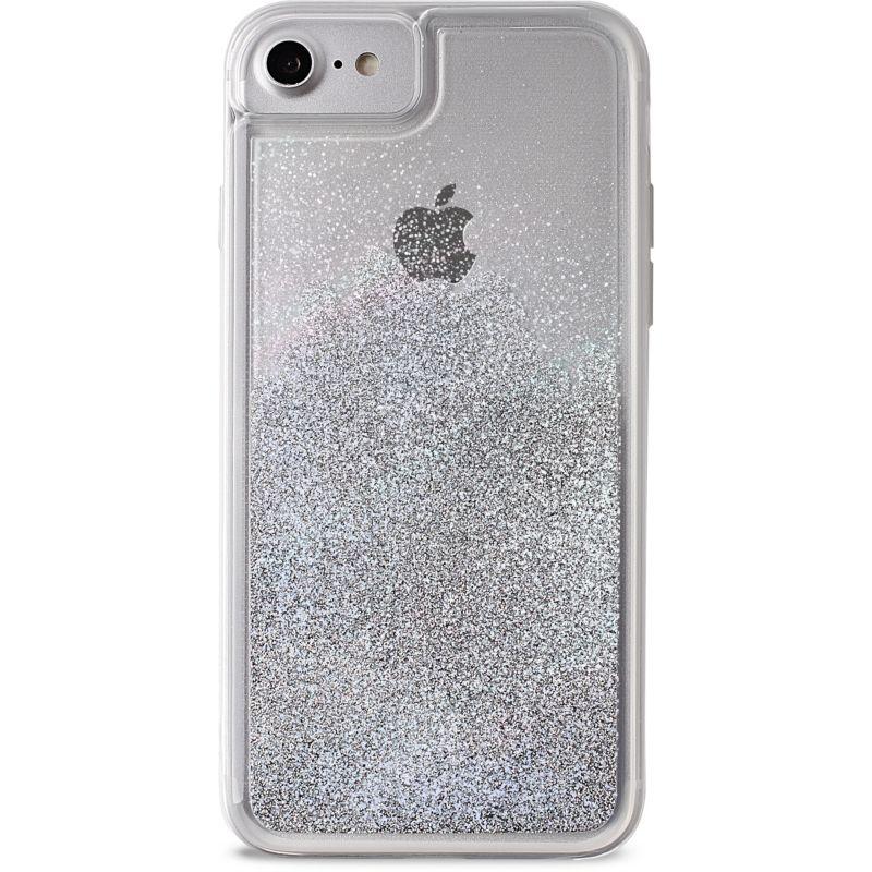 coque iphone 6 paillette liquide gris