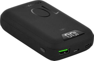 Batterie externe Puro 10000mAh 1 USBA + 1 USBC Noir