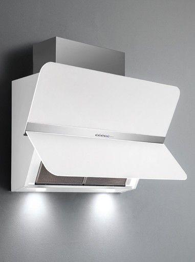 falmec flipper nrs 85 inox verre blanc hotte d corative boulanger. Black Bedroom Furniture Sets. Home Design Ideas