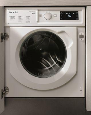Lave linge séchant hublot encastrable Hotpoint BIWDHG861484EU