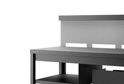 Table FORGE ADOUR TRCANG roulante crédence acier noir gris