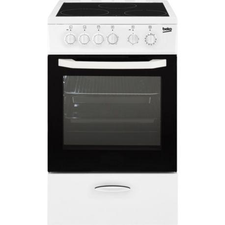 Cuisinière vitrocéramique BEKO CSS48100GW