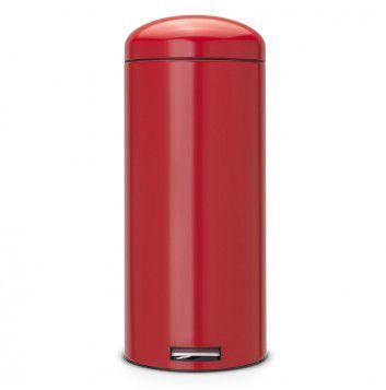 brabantia retro bin 30 litres silent passion red poubelle. Black Bedroom Furniture Sets. Home Design Ideas
