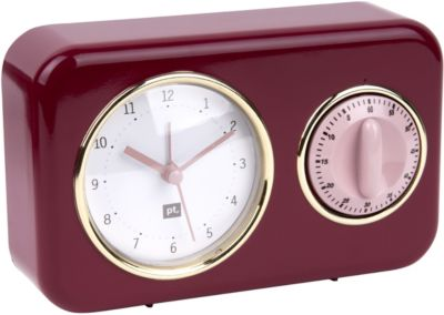 Horloge Present Time Horloge vintage rouge bourgogne PT2970RD