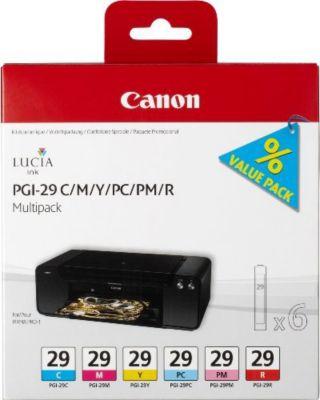 Cartouche d'encre Canon 6 cartouches couleur PGI-29