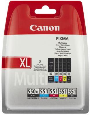 Cartouche d'encre Canon PGI-550XL/CLI-551 PGBK/CMYB