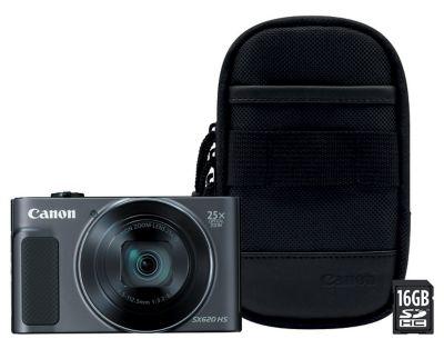 Appareil photo Compact Canon SX620 HS Noir + Etui + SD 8Go